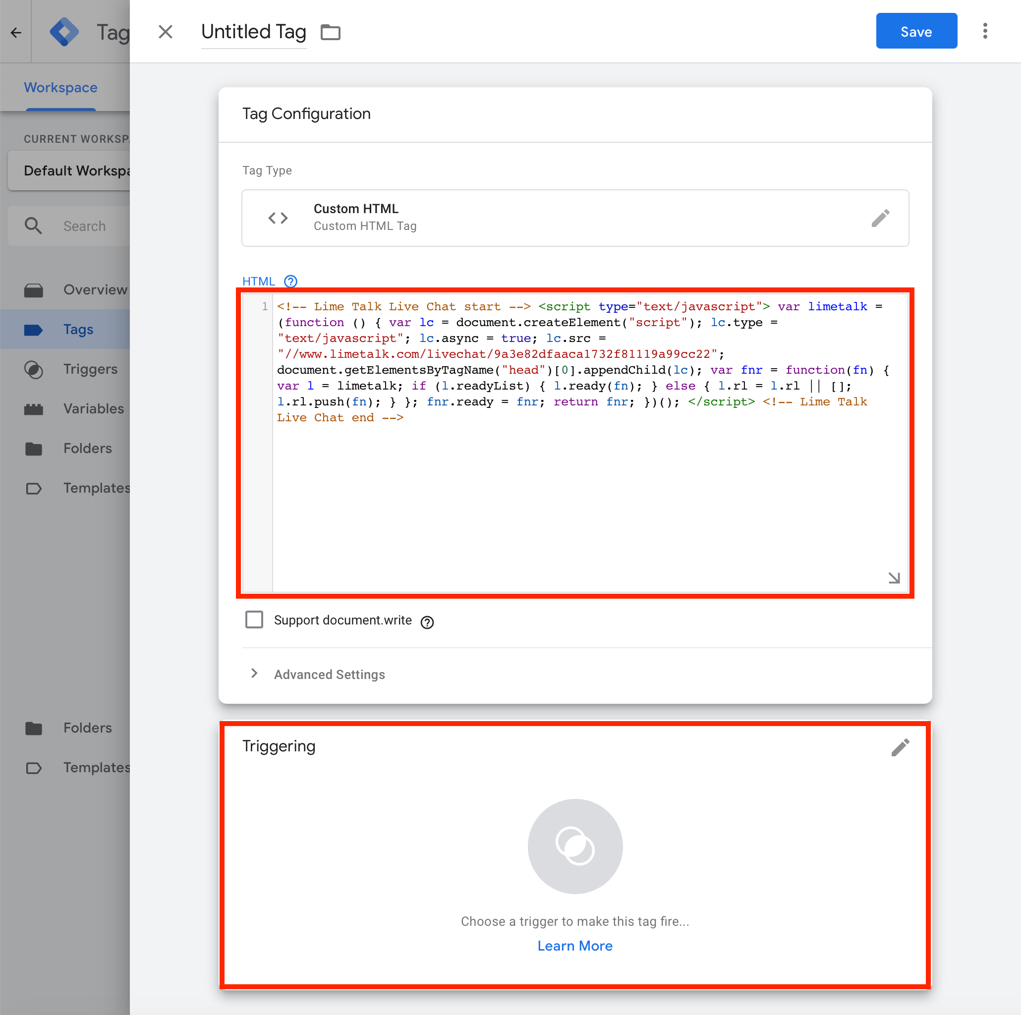 Installation Google Tag Manager