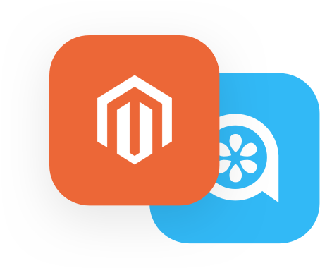 Magento and Lime Talk logo